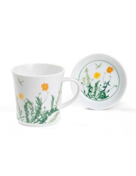 Taza Porcelana Botanique