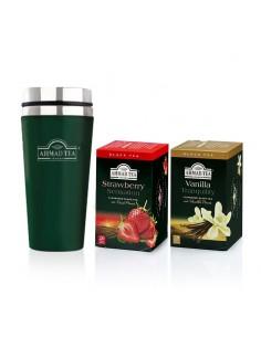 2 Cajas 20 Unid Strawberry Y Vainilla + Travel Mug Ahmad