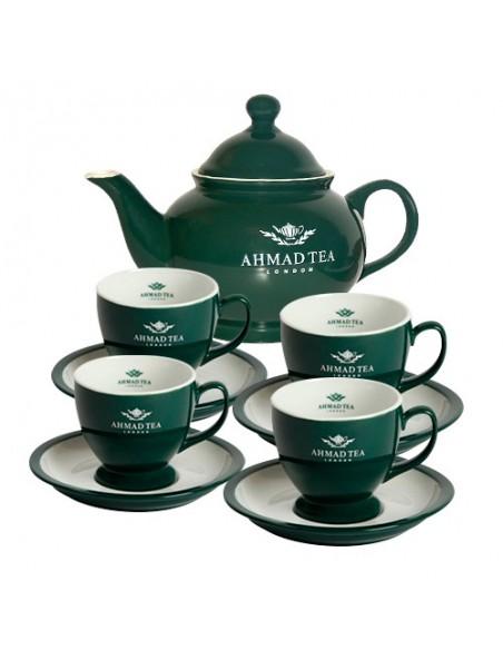 Juego Tetera + 4 tazas y platos Ahmad Tea