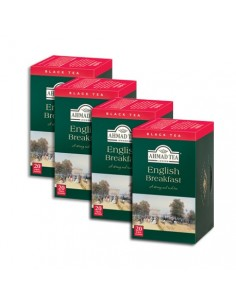 4 CAJAS DE 20 UN  TEABAG ENGLISH BREAKFAST