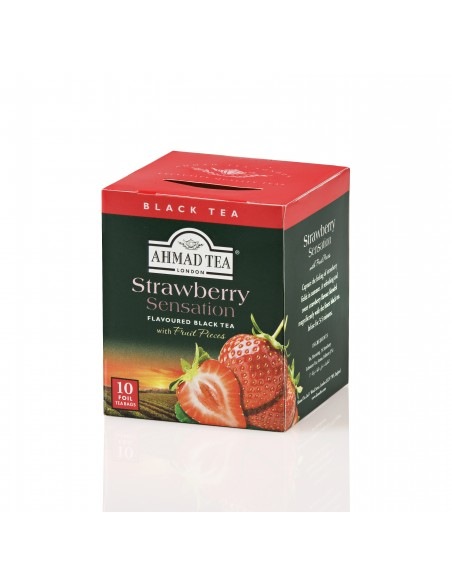 TEABAG STRAWBERRY SENSATION (CAJA 10 UNIDADES)
