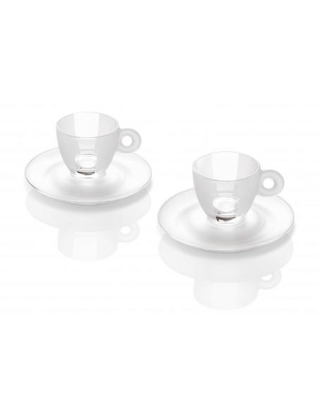 Kit Cristal - 2 Tazas 2 Platillos Espresso